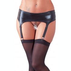 Portjatier cu Ciorapi Negri, Set Lenjerie Sexi Femei