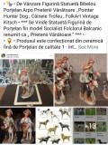 """Statuetă Figurină Bibelou Porțelan Arpo """" Prieteni Vânătoare Trofeu Hunter Dog """""""
