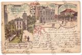 4550 - RESITA, Litho, Romania - old postcard - used - 1900, Circulata, Printata