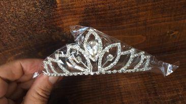 tiara cu cristale pentru mireasa foto