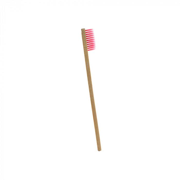 Periuta de dinti clasica, maner drept, culoare roz, model PS03
