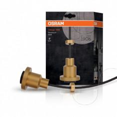 Pendul pentru iluminat Osram, E27, 220-240 V, carcasa aluminiu, culoare aurie, dimensiuni: 84 x 68 x 84 mm, lungime cablu: 2 m