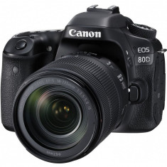 Aparat foto DSLR EOS 80D BK, 24.2 MP, WiFi + Obiectiv EF-S 18-135mm IS