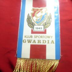 Fanion Club Sportiv Gwardia Polonia , carton ,ciucuri matase ,h=24cm