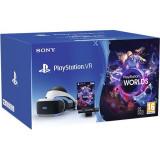 Casca cu ochelari Sony Playstation VR pentru PlayStation 4 + Camera + VR Worlds