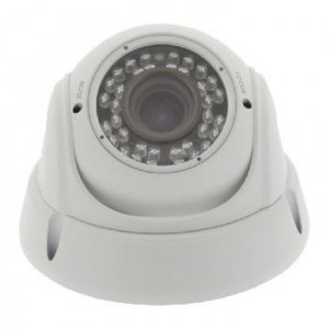 Camera de securitate tip Dome cu lentile varifocale, alb, Konig