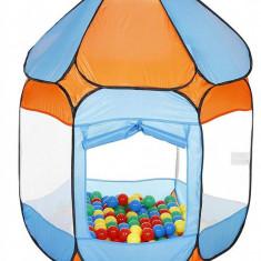 Cort de joaca cu 250 bile Bath of Balls blue
