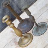 Cumpara ieftin LOT 3 SFESNICE F. VECHI DIN ALAMA CU PATINA VERDE - ANII 1900, POSIBIL LITURGICE