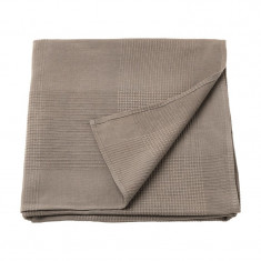 Patura single din bumbac tesut, 150 x 230 cm, bej