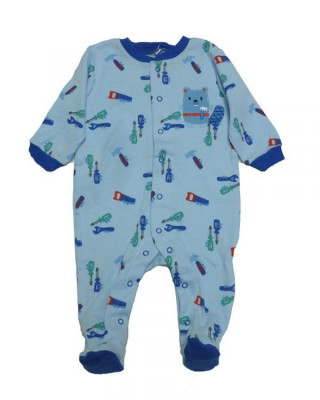 Salopeta / Pijama bebe cu desene Z54 foto