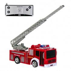 Masina de pompieri cu telecomanda, 27 MHz, 8 x 18 cm