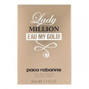 Paco Rabanne Lady Million Eau My Gold! eau de Toilette pentru femei 50 ml