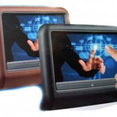 """Monitoare DVD pentru tetiere Touchscreen DVD 9"""" LED USB AVI JPEG MP3 culoare CREM / BEJ"""