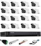 Sistem Supraveghere profesional Hikvision 16 Camere 5MP Turbo HD IR 40m SafetyGuard Surveillance