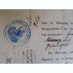 ACTE NOTARIALE VECHI 1918 - TIMBRU FISCAL - HARTIE CU FILIGRAM - CALIGRAFIE