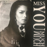 """Janet Jackson - Miss You Much (1989, A&M) Disc vinil single 7"""""""