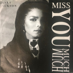 Janet Jackson - Miss You Much (1989, A&M) Disc vinil single 7""