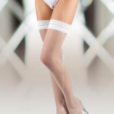 Ciorapi Sexy Cu Banda Elastica, Alb, 3