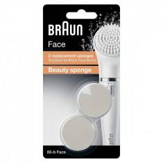 Rezerva bureti perie epilator Braun SE80-B Beauty Sponge 2 bucati Alb