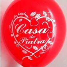 Baloane nunta rosii Casa De Piatra Inima 30cm imprimate set 20 buc