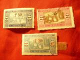 Serie mica Senegal 1924 - Piata , cu supratipar , 3 val. stampilate