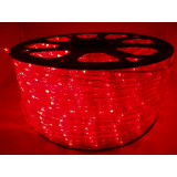 Instalatie Rola LED 50 m furtun luminos Rosu + alimentator inclus / instalatie de craciun