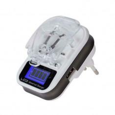 Incarcator universal pentru acumulatori Li-ion/ Li-poly, 1 x USB, incarcare automata