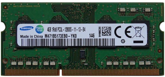 Memorie Laptop Samsung 4GB DDR3 PC3L-12800S 1600Mhz 1.35V M471B5173EB0