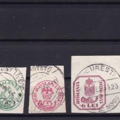 ROMANIA 1932  LP 102  ANIVERSAREA 75 ANI CAP DE BOUR   SERIE STAMPILATA
