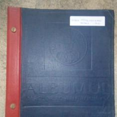 Romania.1858/1962 Album ptr. timbre cu pagini pretiparite 130 buc.