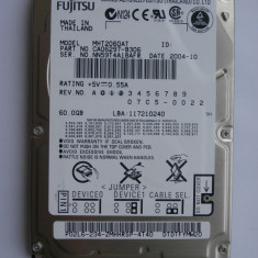 HDD FUJITSU 60GB model MHT2060AT interfata IDE