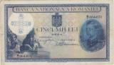ROMANIA 5000 lei 1931 SUPRATIPAR 1940 SERIE FRACTIE F