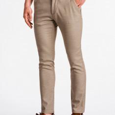 Pantaloni premium, casual, barbati - P831-maro