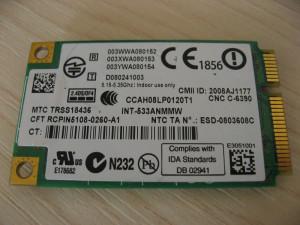 Placa wireless laptop HP EliteBook 8730w, Intel WiFi Link 5300, 506679-001