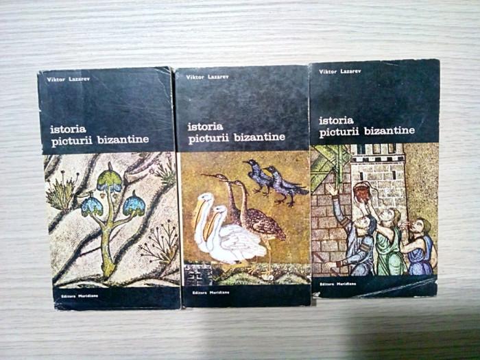 ISTORIA PICTURII BIZANTINE - 3 Vol. - Victor Lazarev - 1980, 362+312+294 p.