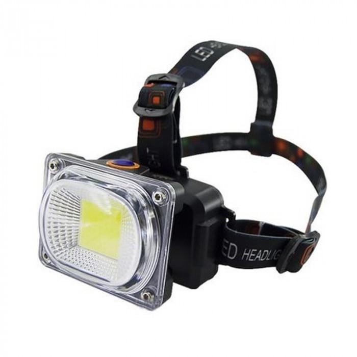 Lanterna de cap LL-6651, reincarcabila, 3 faze iluminare, acumulator inclus