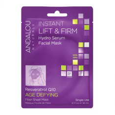 Instant Lift & Firm Hydro Serum Facial Mask, 18ml, Andalou