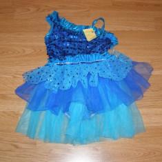 costum carnaval serbare rochie dans pentru copii de 4-5-6 ani