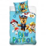 Set lenjerie pat copii Paw Patrol Chase 100x135 + 40x60 SunCity CBX202005PAW, Albastru