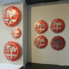 Emblema Alfa Romeo set 7 piese culoare rosie