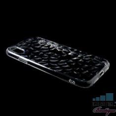 Husa iPhone XR TPU Textura Diamant Transparenta
