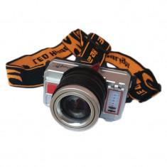 Lanterna frontala Minghuo MH-T10, 3 faze, USB, lumina calda/rece, acumulator foto