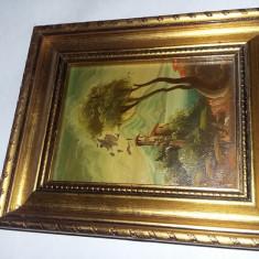 tablou pictat cu rama superba,tablou/pictura in starea care se vede,T.GRATUIT