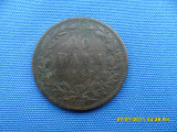 10 BANI 1867 WATT&COMP/PATINA PROF