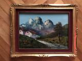 Tablou,pictura in ulei pe panza,peisaj alpin Austria ,Tirol