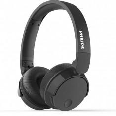 Casti audio wireless Philips TABH305BK/00, Bluetooth v4.2, microfon incorporat, pliere compacta, buton multifunctional, redare 18 ore, Negru