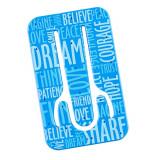 Suport telefon flexibil Cuvinte Albastre, TG by AleXer, 8190138, albastru, plastic, metal, saculet si laveta incluse