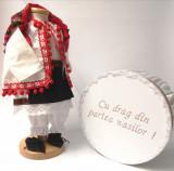 Cumpara ieftin Set Botez Traditional Delia 2 piese costumas si cufar brodat