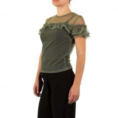 Bluza sic, transparenta, de culoare verde, L, M, S