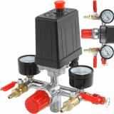 Presostat compresor aer + supape 20A 230V 3-12 bari VERKE V81204